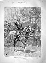 1896 の皇帝の即位のモスクワのイギリスの領事館の馬