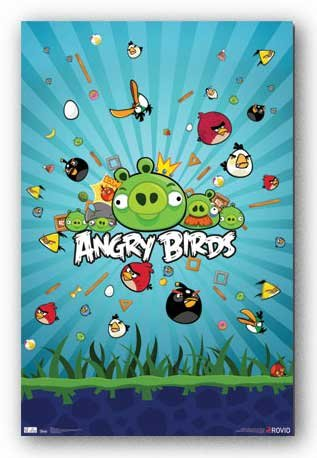Angry Birds Group Video Game Poster Print - 22x34