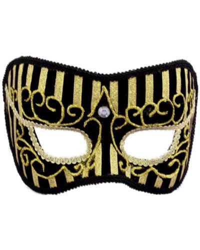 Gold Stripe Half Mask