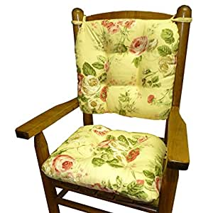 Bethany Yellow Floral Child Rocking Chair Cushions Seat Cushion