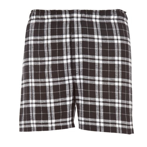 Boxercraft Herren Flanell-Boxer-Shorts / Boxer-Shorts (Xlarge) (Schwarz/Weiß)