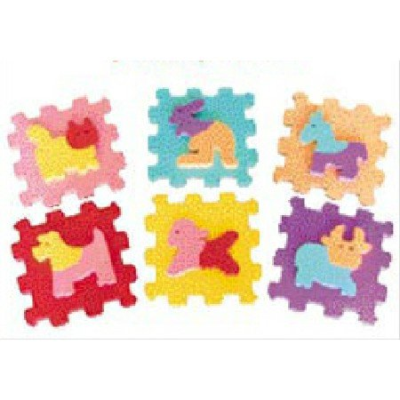 Picture of Wandix International Wandix International Baby Zippy Mats Animals Puzzle (B000BXKT52) (Puzzle Play Mats)