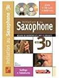Maugain Manu Initiation Au Saxophone En 3D Sax Book/Cd/Dvd French