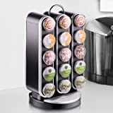 """Mind Reader """"Vortex"""" Spinning Coffee Pod Carousel for 30 K-Cup Single Serve Coffee Pods, Black"""