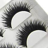 XM06 6 Pairs Natural Thick Long Cross Party False Eyelashes beauty Lashes HOT Eye Lashes