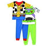 Toy Story Woody Buzz Boys 4 pc Cotton Pajamas Set
