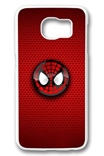 Samsung Galaxy S6 Case,White,Shock Absorbing,Premium Slim PC Material Perfectly Fitting The Case For Samsung Galaxy S6_Spiderman Logo 2