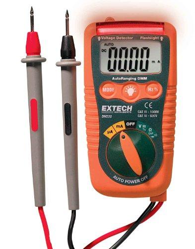 Extech Dm220 Cat Iv Mini Pocket Multimeter With Non-Contact Voltage Detector