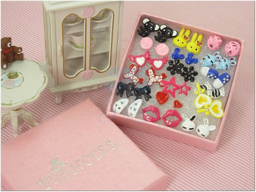 Cute Fashion Stud Earrings for teen girls Kids, Wholesale Lot of 18 Pairs [A]
