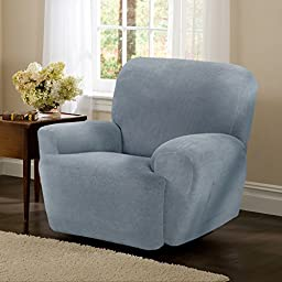 Maytex Collin Stretch 4PC Slipcover Blue Recliner