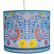 Molly 'n Me Birds in Bloom Drum Shade Pendant Lamp