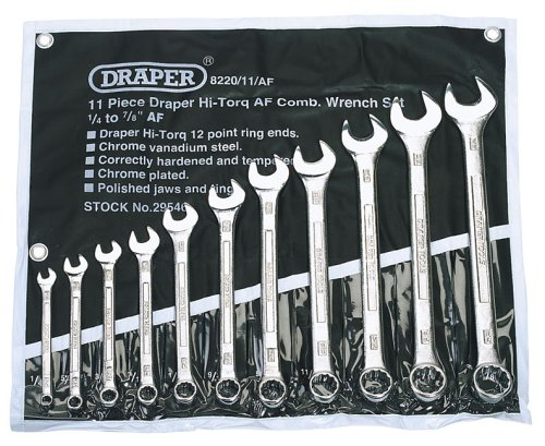 Draper 29546 11-Piece Hi-Torq AF Combination Wrench Set