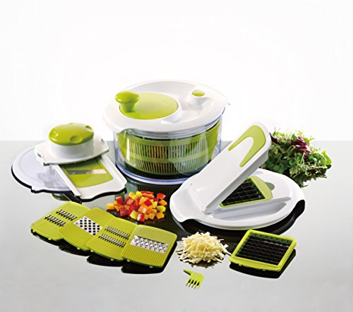 Salad Maker & Mandolin Set - Salad Spinner with