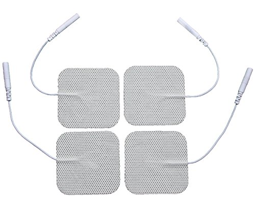 LotFancy Reusable TENS Electrode Pads for Massagers and Muscle Stimulators, Pack of 40, 2 x 2 Inch White Foam Backing with Superior Gel Adhesive (Stimulator Pads compare prices)