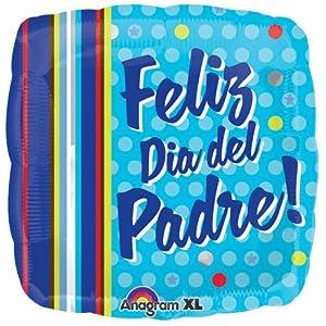 Amazon.com: 18 Inch Feliz Dia Del Padre Dots & Stripes Globos: Toys
