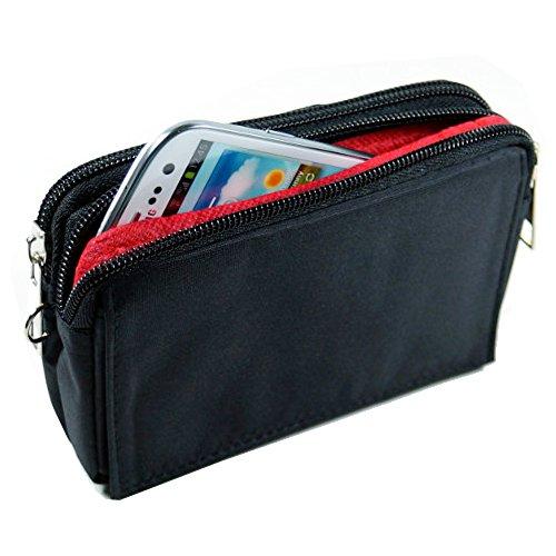 andyhandyshop orizzontale Custodia Borsa marsupio portafoglio per Smartphone Zaydo Pulse