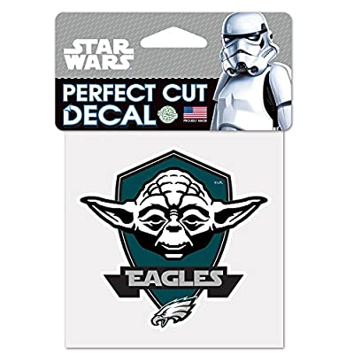 Philadelphia Eagles Official NFL 4 inch x 4 inch Star Wars Yoda Die Cut Car Decal by Wincraft 402103