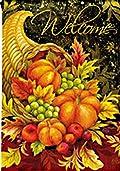 Bountiful Blessings Thanksgiving Garden Flag