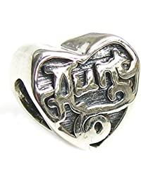 Valentines Day Gift Queenberry Sterling Silver Heart Love Aunt Family Bead For European Charm Bracelets