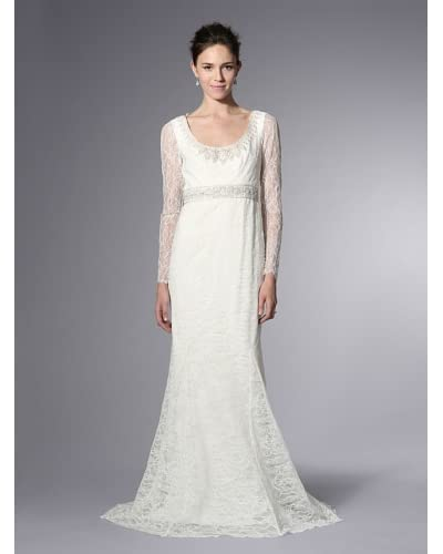 Theia Women's Long Sleeve Lace Gown