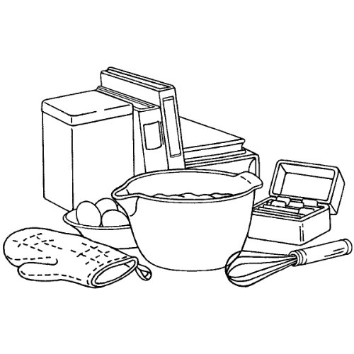 "Inky Antics Mounted Rubber Stamp 2.5""X3.75""-Ready To Bake - 1"