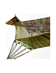 Rothco Sheltered Hammock With Bug Netting Color: Woodland Camo