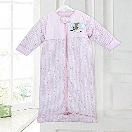 [Baby Clothing Cartoon Elephant Thicken Extra Long Adjustable Sleeping Bag Quilt] (Elephant Bunting Costumes)