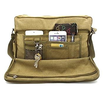 MiCoolker(TM) Multifunction Versatile Canvas Messenger Bag Handbag Crossbody Shoulder Bag Leisure Change Packet 2