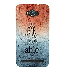 EPICCASE I love you Mobile Back Case Cover For Asus Zenfone Max (Designer Case)