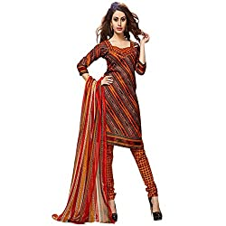 Kavyanjali Women's Multi-Coloured Unstitched Cotton Dress Material