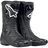 Alpinestars S-MX 5 Men's Performance/Road Riding Street Racing Motorcycle Boots – Black (Vented) / Size 45 by NYC Leather Factory Outlet