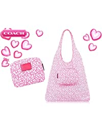 Coach Heart Print Folding Tote White / Multicolor F68445