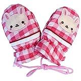 ベビーミトン 手袋 赤ちゃん ベビー 女の子 ウサギ ミトン手袋 ひも付き てぶくろ ピンク TSS(1-2才)