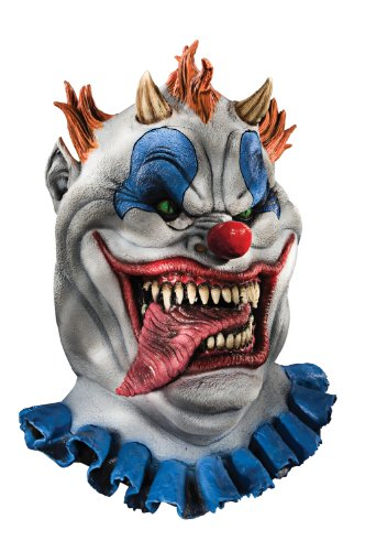 Foam Latex Mask, Deluxe Fatzo The Clown