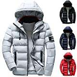 Clearance Forthery Men's Down Jacket Puffer Coat Thicken Packable Warm Winter with Hood