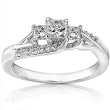 buy Divine Inexpensive Engagement Ring 0.50 Carat Princess Cut Diamond On Gold