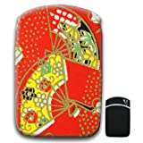 Japanese Art Red Fan For Amazon Kindle Fire & Kindle 3G Keyboard Soft Protection Neoprene Case Cover Sleeve Bag With Pocket which is Ideal for Headphones, Data Cable etc