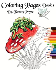 Fantasy Art Coloring Pages Book 1 wit…
