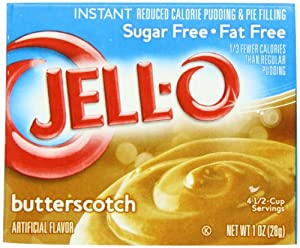 Jell-O Sugar-Free Instant Pudding & Pie Filling, Butterscotch, 1-Ounce Boxes (Pack of 24)