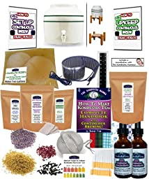KKamp Continuous Brew Kombucha DELUXE PACKAGE - Green Stripe w/ Stand + Essential Heat Strip