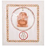 Niru's Lord Ganesh Mantra Wood Statue Show Piece - (12 Cm X 13.5 Cm X 1.5 Cm,Multi Color)
