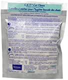 Virbac C.E.T. Enzymatic Oral Hygiene Chews for Cats, Fish Flavor, 30 Count