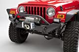 Body Armor 4x4 TJ-19531Black - Steel Front Winch Bumper for Jeep Wrangler Yj and TJ