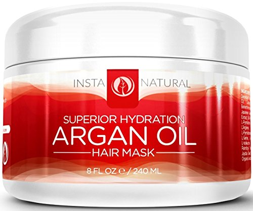 Argan Oil Hair Mask - Intensive Leave In Hair Conditioner That Will Turn Dry, Damaged Hair Into Luxurious, Silky Strands - With Organic Argan Oil, Coconut Oil, Shea Butter, & Vitamin B5 - Deep Treatment Cream Increases Volume, Softness and Shine - Guaranteed to work for your body!