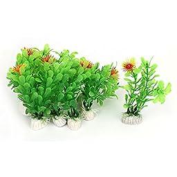10Pcs Plastic Artificial Green Water Plant Grass For Aquarium