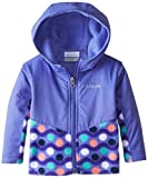 Columbia Baby-Girls Infant Steens Overlay Hoodie, Purple Lotus Dots, 18-24 Months Color: Purple Lotus Dots Size: 18-24 Months