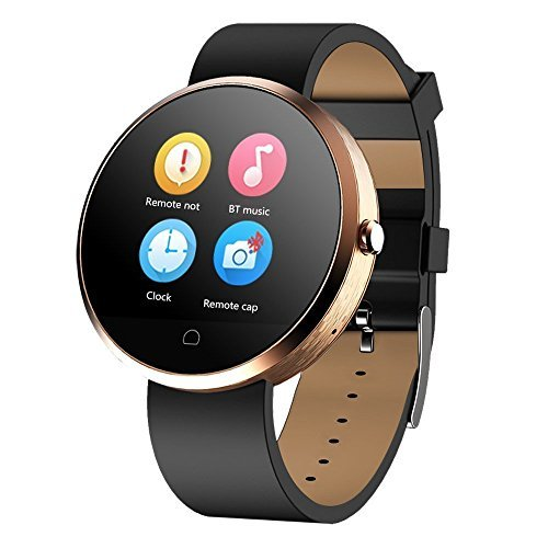 Bluetooth-Smart-Watch-Haier-G6-Water-Resistant-Universal-Touch-Screen-Smart-Wristwatch-Compatible-for-iOS-Android-Phones-Multifunction-Pedometer-Heart-Activity-Sleep-Monitor-Wristwatch-Golden