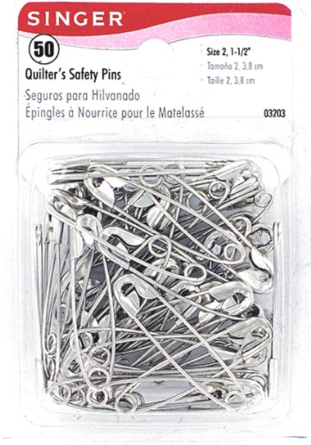 Singer Quilters Safety Pins, 50 Count