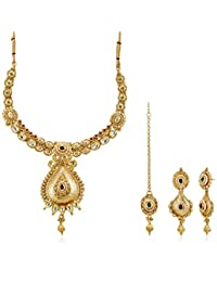 Ava Traditional Jewellery Set For Women (Gold) (S-VS-1415)