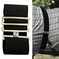 Intrepid International Elastic Blanket Surcingle, Black